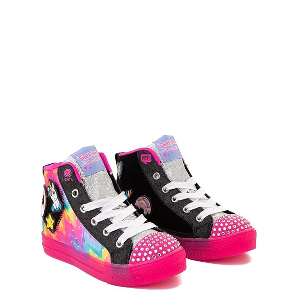 alternate view Skechers Twinkle Toes Shuffle Brights Patches Sneaker - Little KidALT1B