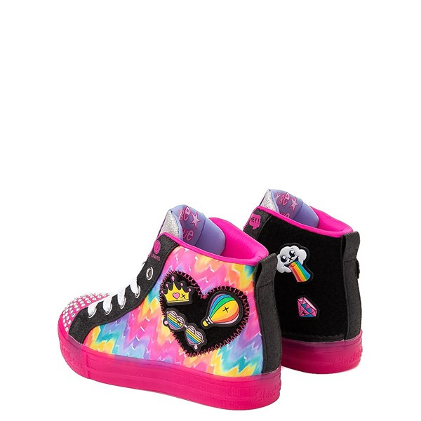 alternate view Skechers Twinkle Toes Shuffle Brights Patches Sneaker - Little KidALT2