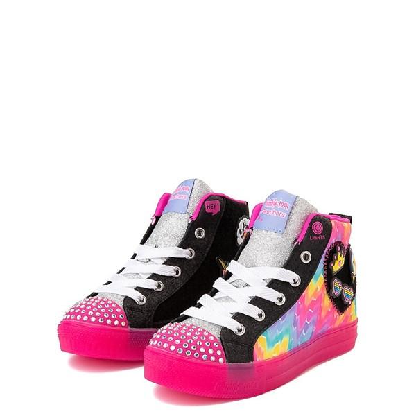 alternate view Skechers Twinkle Toes Shuffle Brights Patches Sneaker - Little KidALT3