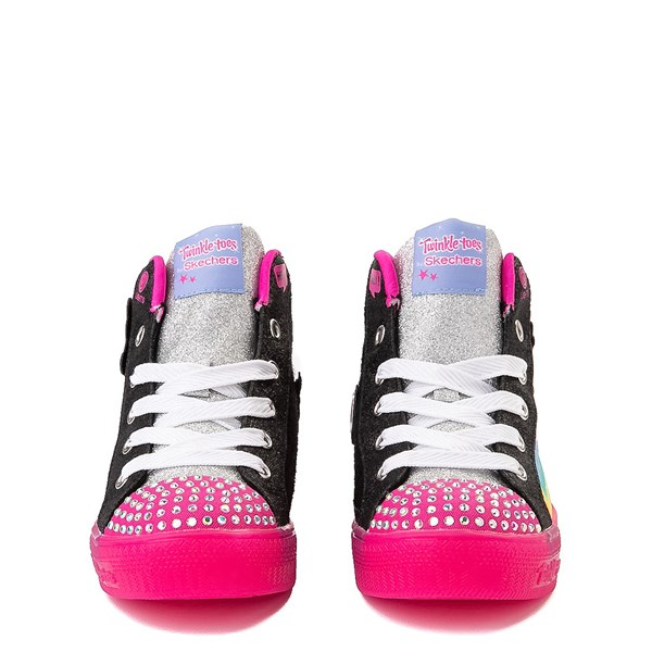 alternate view Skechers Twinkle Toes Shuffle Brights Patches Sneaker - Little KidALT4