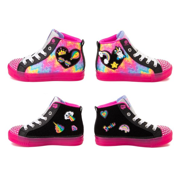 alternate view Skechers Twinkle Toes Shuffle Brights Patches Sneaker - Little KidALT6