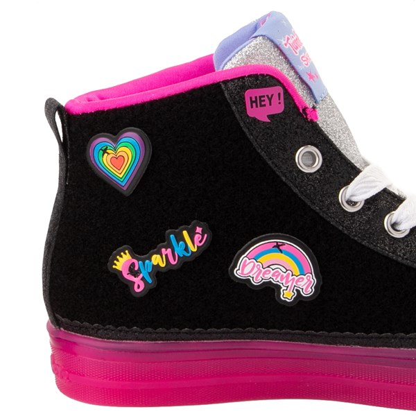 alternate view Skechers Twinkle Toes Shuffle Brights Patches Sneaker - Little KidALT7