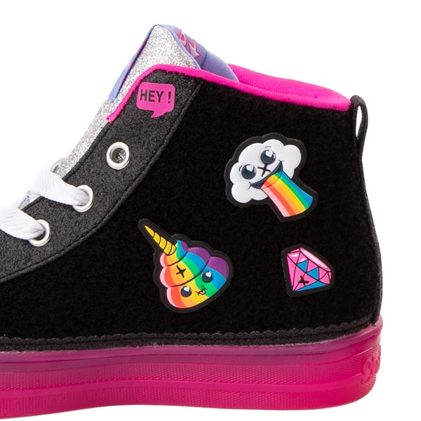 alternate view Skechers Twinkle Toes Shuffle Brights Patches Sneaker - Little KidALT8