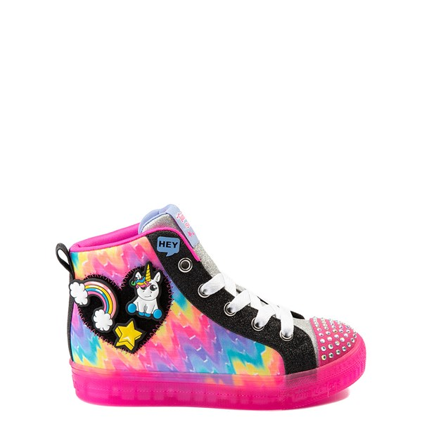 Skechers Twinkle Toes Shuffle Brights Patches Sneaker - Little Kid