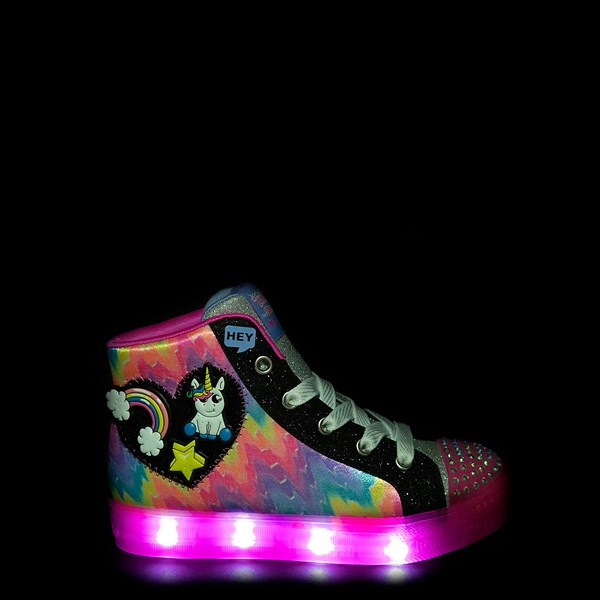 Alternate view of Skechers Twinkle Toes Shuffle Brights Patches Sneaker - Little Kid