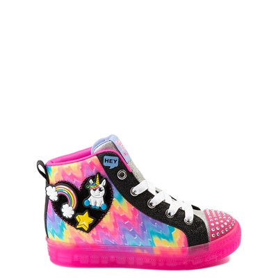 Main view of Skechers Twinkle Toes Shuffle Brights Patches Sneaker - Little Kid
