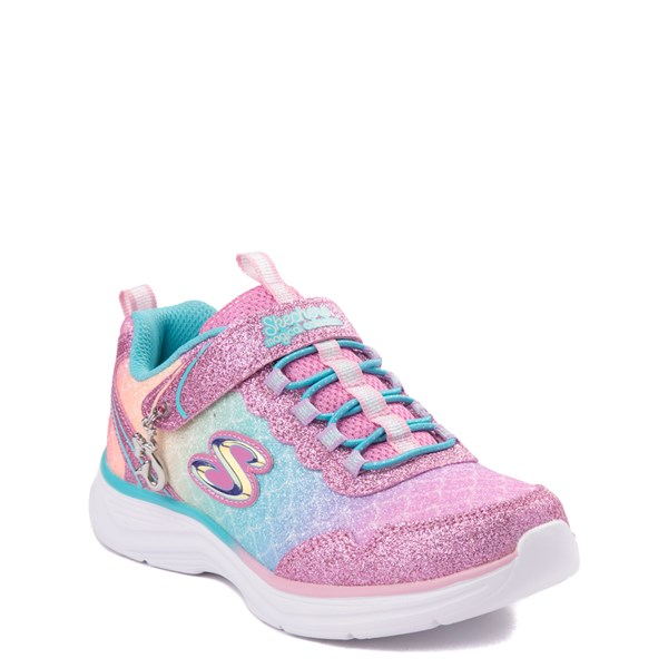 alternate view Skechers S Lights Glimmer Kicks Mermaid Sneaker - Little KidALT1