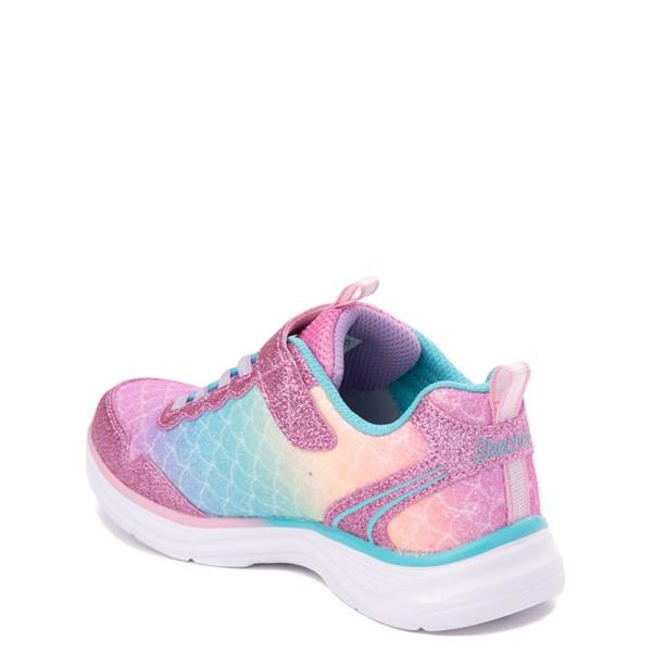 alternate view Skechers S Lights Glimmer Kicks Mermaid Sneaker - Little Kid - Pink / MultiALT2