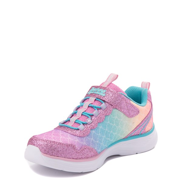 alternate view Skechers S Lights Glimmer Kicks Mermaid Sneaker - Little KidALT3