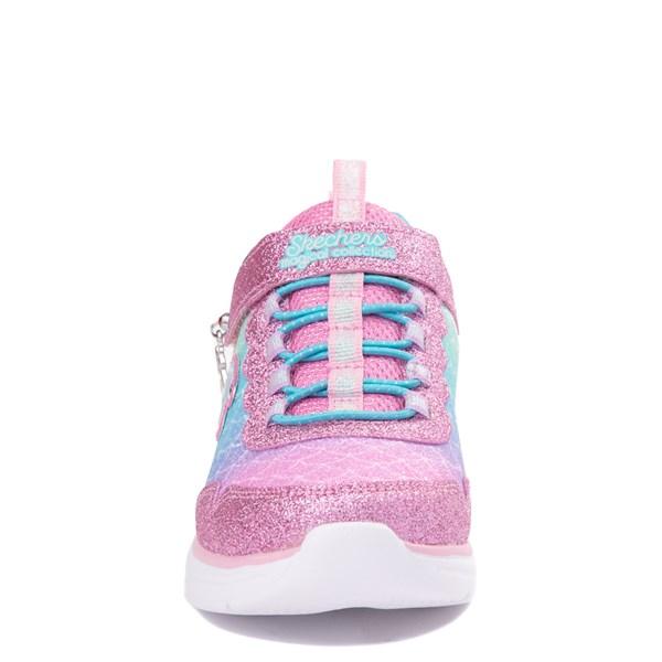 alternate view Skechers S Lights Glimmer Kicks Mermaid Sneaker - Little Kid - Pink / MultiALT4