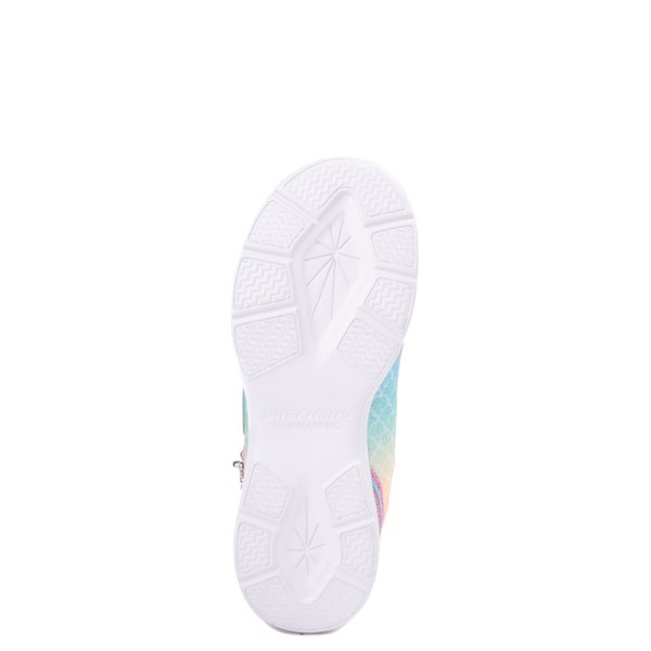 alternate view Skechers S Lights Glimmer Kicks Mermaid Sneaker - Little Kid - Pink / MultiALT5