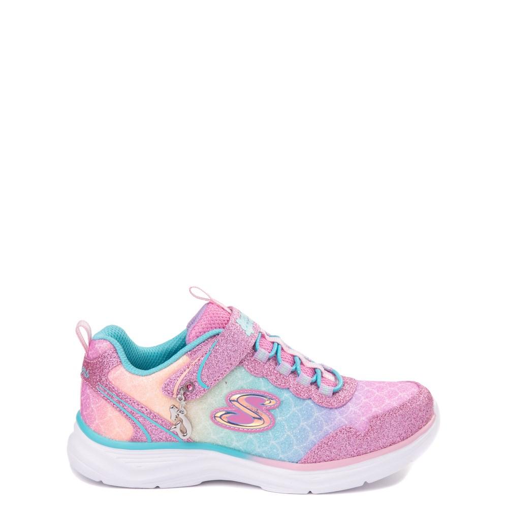 Skechers S Lights Glimmer Kicks Mermaid Sneaker - Little Kid - Pink / Multi