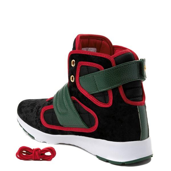 alternate view Mens Vlado Atlas III Velvet Athletic Shoe - Black / Red / GreenALT1