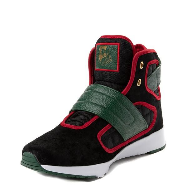 alternate view Mens Vlado Atlas III Velvet Athletic Shoe - Black / Red / GreenALT2