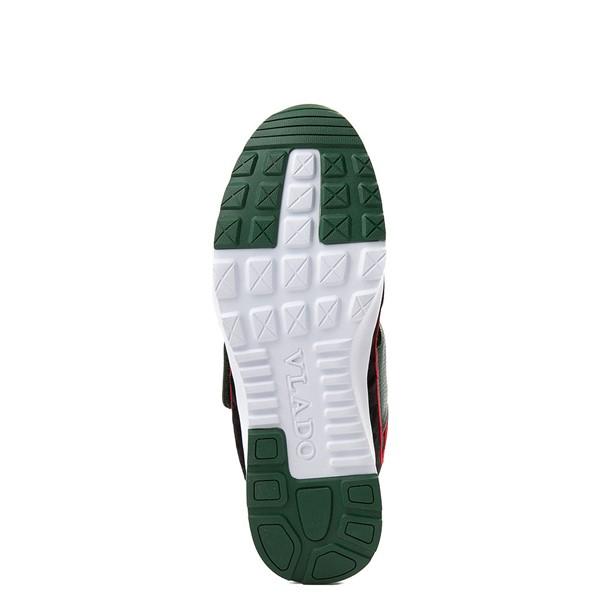 alternate view Mens Vlado Atlas III Velvet Athletic Shoe - Black / Red / GreenALT3
