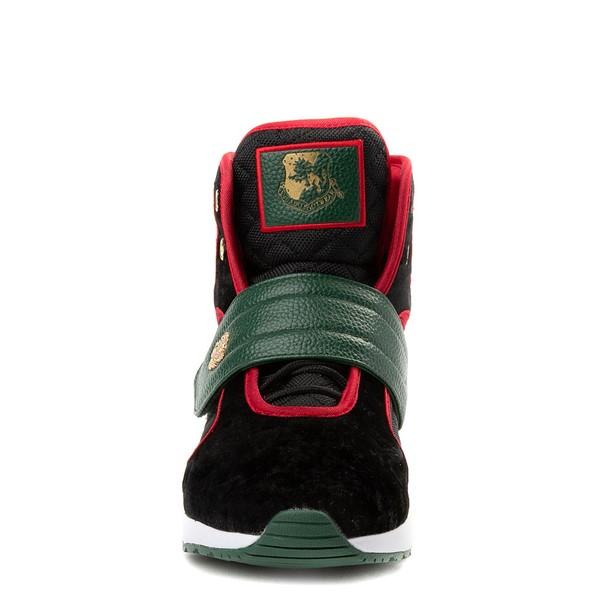 alternate view Mens Vlado Atlas III Velvet Athletic Shoe - Black / Red / GreenALT4
