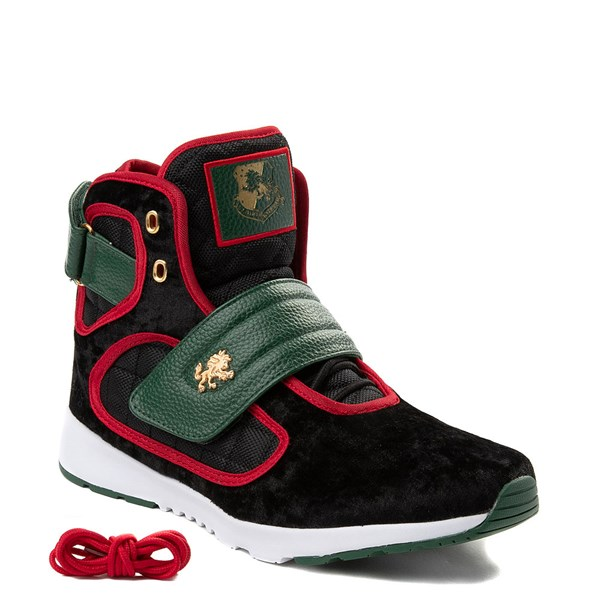alternate view Mens Vlado Atlas III Velvet Athletic Shoe - Black / Red / GreenALT1