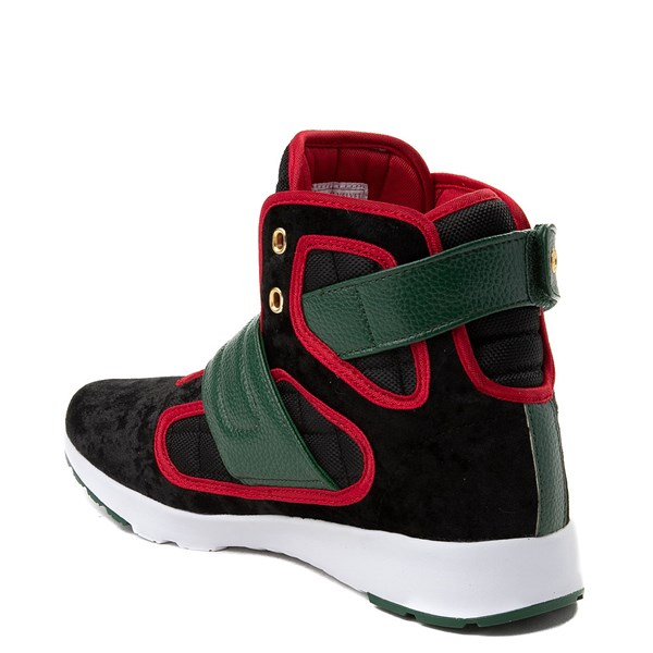 alternate view Mens Vlado Atlas III Velvet Athletic Shoe - Black / Red / GreenALT2