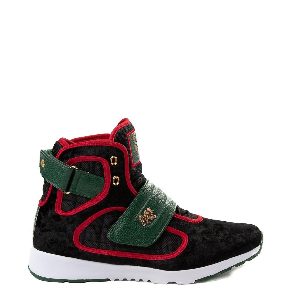 Mens Vlado Atlas III Velvet Athletic Shoe - Black / Red / Green