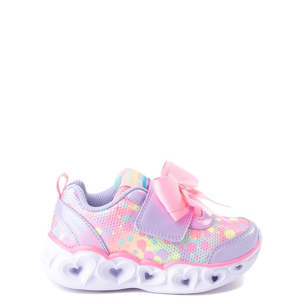Skechers S Lights Hearts Sneaker - Toddler - Lavender / Pink