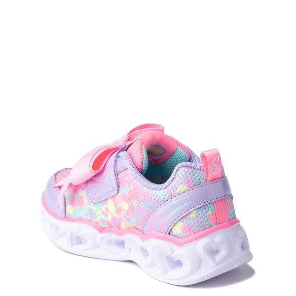 alternate view Skechers S Lights Hearts Sneaker - ToddlerALT2