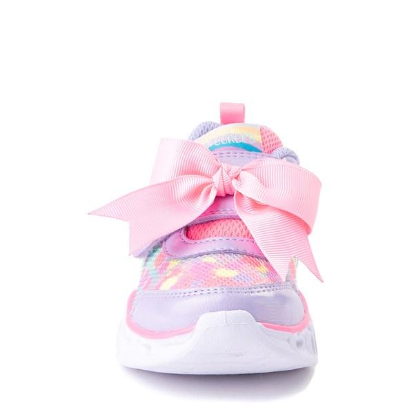 alternate view Skechers S Lights Hearts Sneaker - ToddlerALT4