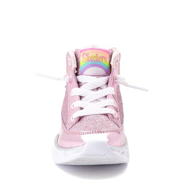 alternate view Skechers S Lights Hearts Hi Sneaker - ToddlerALT4