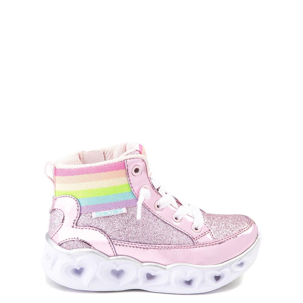 Skechers S Lights Hearts Hi Sneaker - Toddler