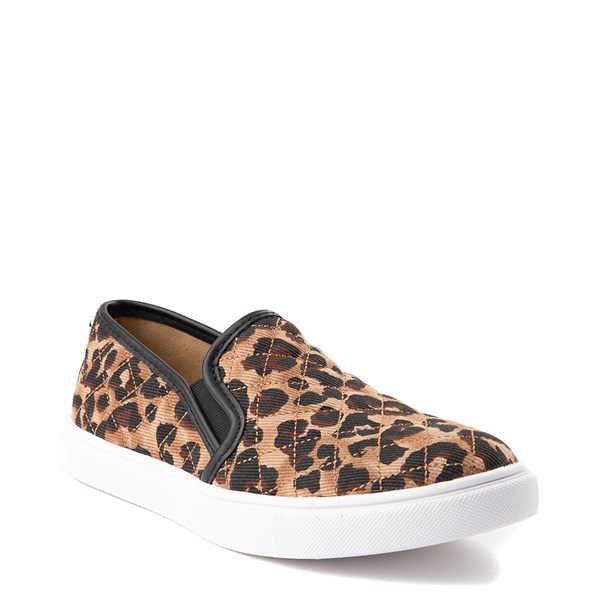 alternate view Womens Steve Madden Ecentrcq Slip On Casual Shoe - LeopardALT1