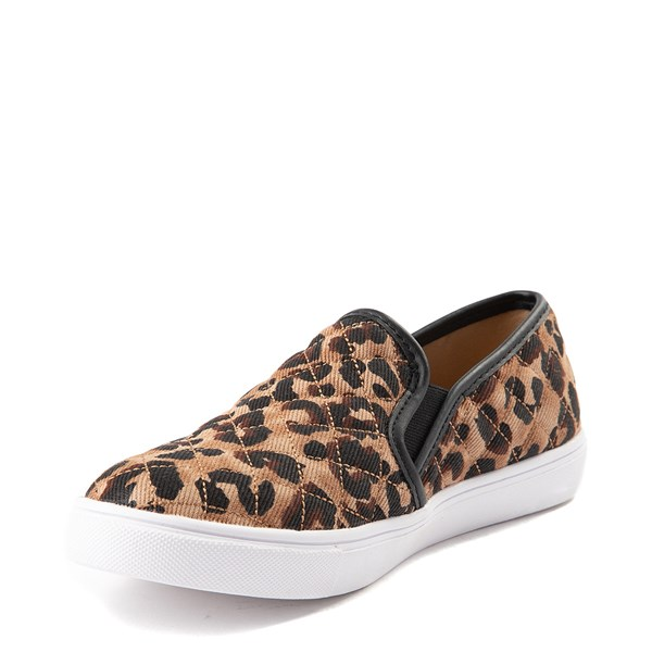 alternate view Womens Steve Madden Ecentrcq Slip On Casual Shoe - LeopardALT3