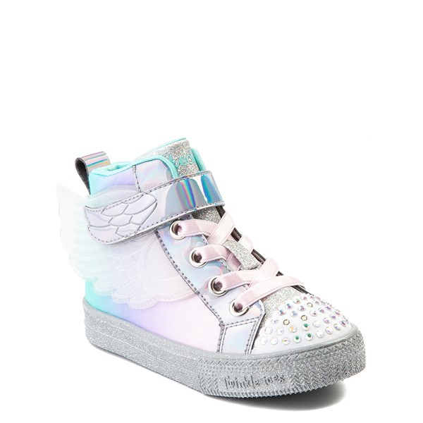alternate view Skechers Twinkle Toes Sparkle Wings Hi Sneaker - Toddler - MultiALT1B