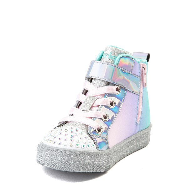 alternate view Skechers Twinkle Toes Sparkle Wings Hi Sneaker - Toddler - MultiALT3
