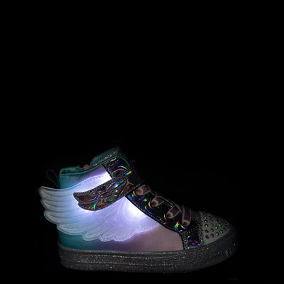 Alternate view of Skechers Twinkle Toes Sparkle Wings Hi Sneaker - Toddler - Multi