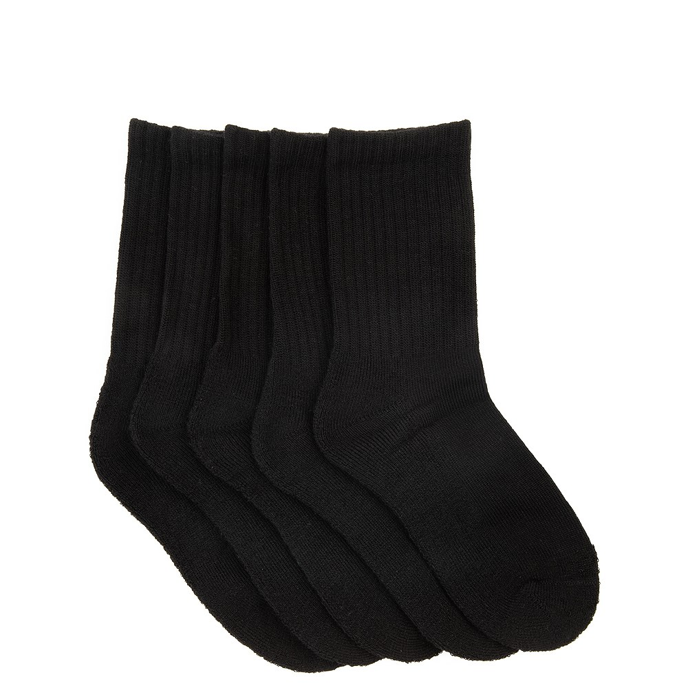 Basic Crew Socks 5 Pack - Little Kid