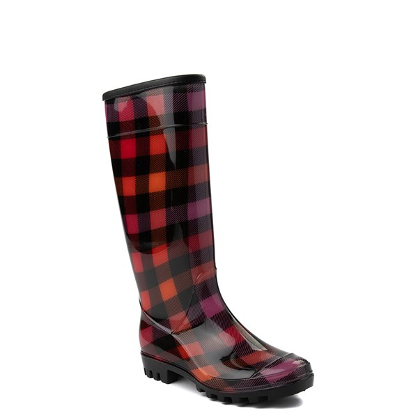 alternate view Womens Dirty Laundry Ring Leader Rain Boot - Red / BlackALT1