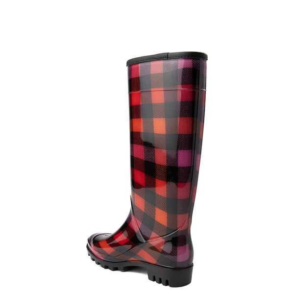 alternate view Womens Dirty Laundry Ring Leader Rain Boot - Red / BlackALT2