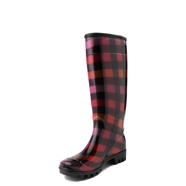 alternate view Womens Dirty Laundry Ring Leader Rain Boot - Red / BlackALT3