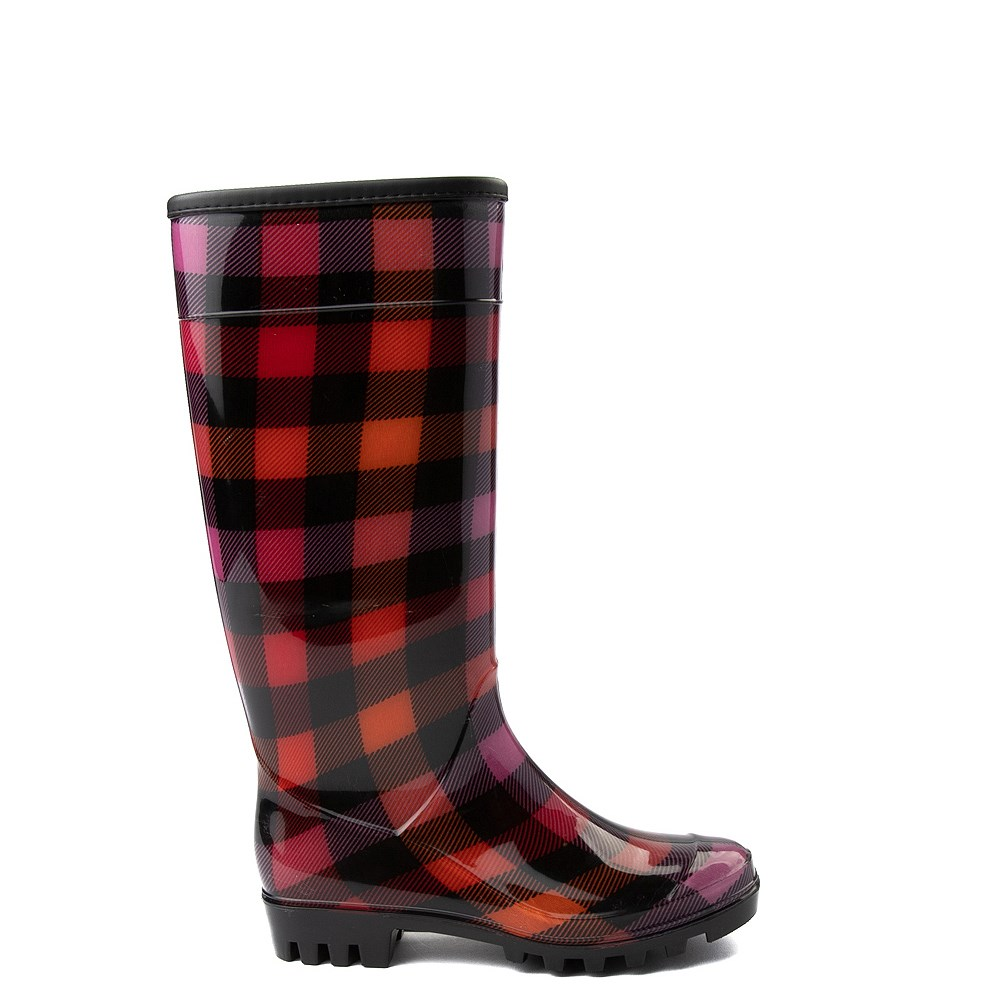 Womens Dirty Laundry Ring Leader Rain Boot - Red / Black