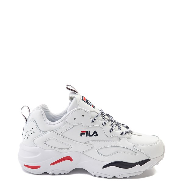 Womens Fila Ray Tracer Athletic Shoe - White / Navy / Red