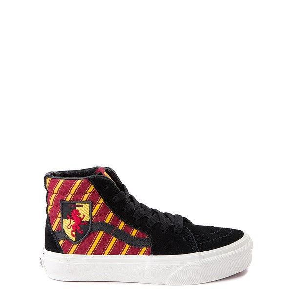 Vans x Harry Potter Sk8 Hi Gryffindor Skate Shoe - Little Kid / Big Kid - Black / Scarlet / Gold