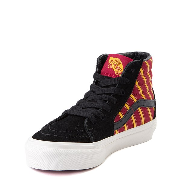 alternate view Vans x Harry Potter Sk8 Hi Gryffindor Skate Shoe - Little Kid / Big Kid - Black / Scarlet / GoldALT3
