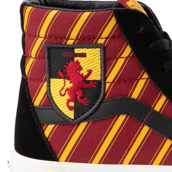 alternate view Vans x Harry Potter Sk8 Hi Gryffindor Skate Shoe - Little Kid / Big Kid - Black / Scarlet / GoldALT6