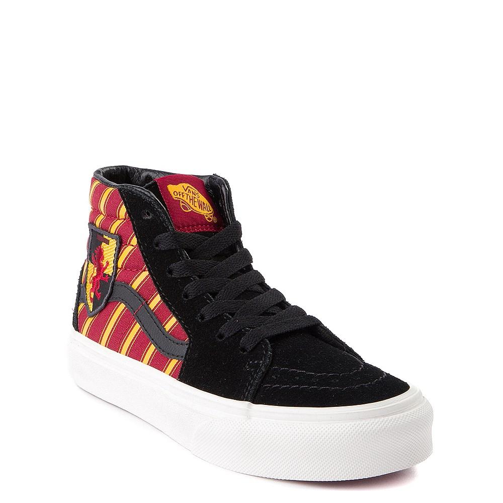 Vans x Harry Potter Sk8 Hi Gryffindor Skate Shoe Little Kid Big Kid Black Scarlet Gold
