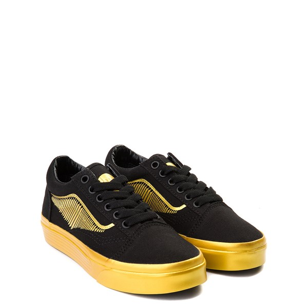 alternate view Vans x Harry Potter Old Skool Golden Snitch Skate Shoe - Little Kid / Big Kid - Black / GoldALT1