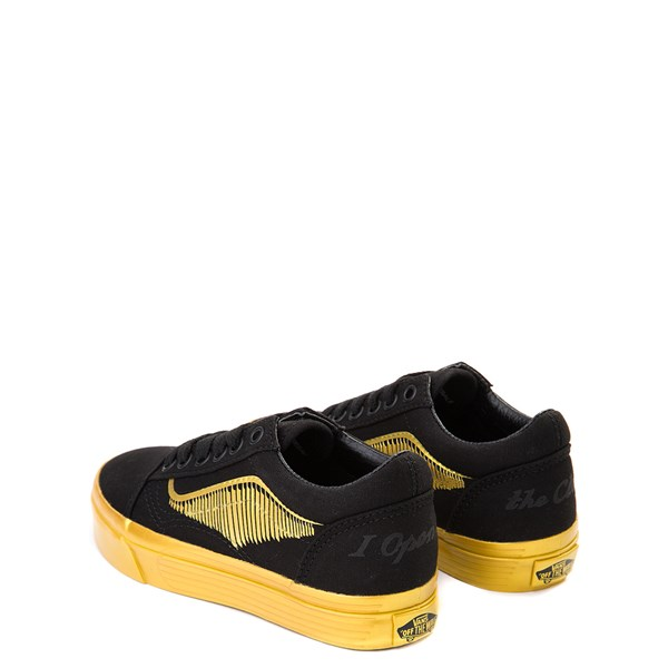 alternate view Vans x Harry Potter Old Skool Golden Snitch Skate Shoe - Little Kid / Big Kid - Black / GoldALT2