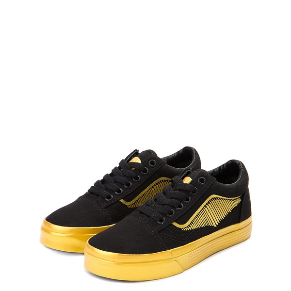 alternate view Vans x Harry Potter Old Skool Golden Snitch Skate Shoe - Little Kid / Big Kid - Black / GoldALT3