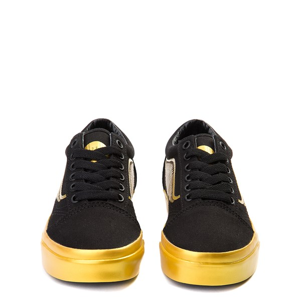 alternate view Vans x Harry Potter Old Skool Golden Snitch Skate Shoe - Little Kid / Big Kid - Black / GoldALT4