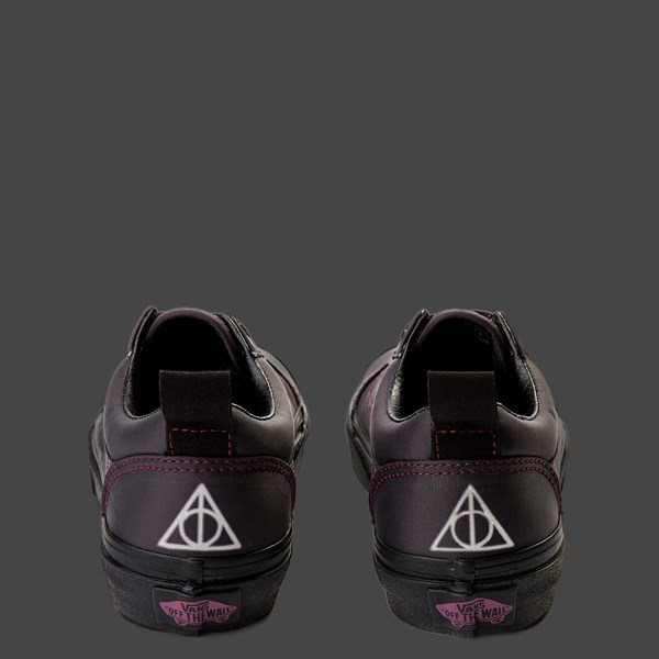 alternate view Vans x Harry Potter Old Skool Deathly Hallows Skate Shoe - Little Kid / Big Kid - BlackALT11