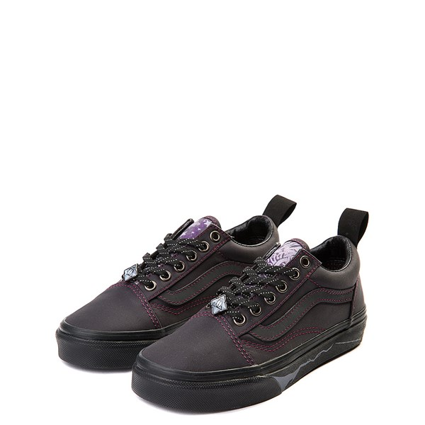 alternate view Vans x Harry Potter Old Skool Deathly Hallows Skate Shoe - Little Kid / Big Kid - BlackALT3