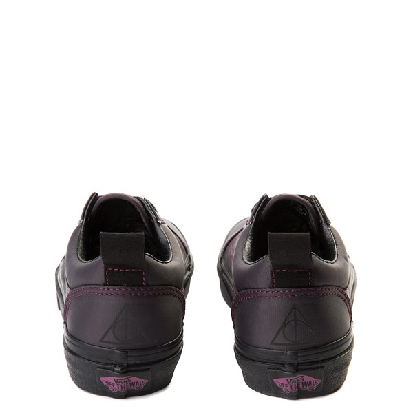 alternate view Vans x Harry Potter Old Skool Deathly Hallows Skate Shoe - Little Kid / Big Kid - BlackALT6